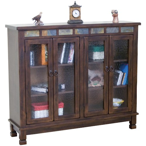 sunny designs santa fe traditional 4 door closed bookcase