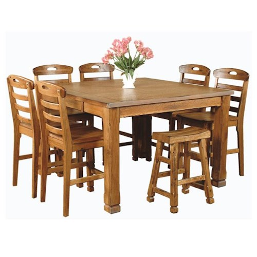Sunny Designs Sedona Rustic Oak 8 Piece Dining Set