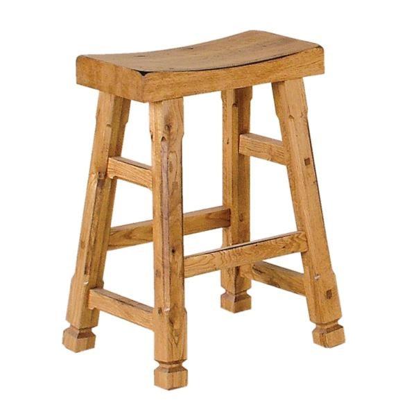 Sunny Designs Sedona Rustic Oak Saddle Seat Barstool