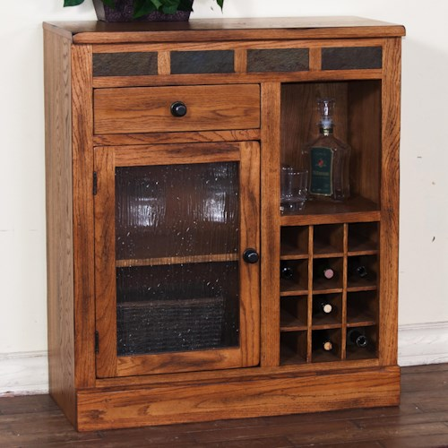 Sunny designs sedona mini bar cabinet wayside furniture for Small bar cabinet