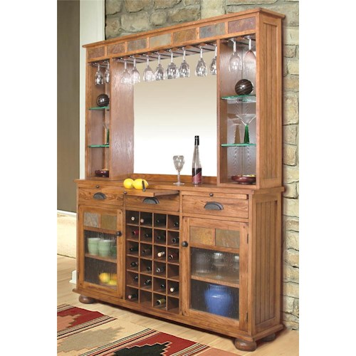 Sunny Designs Sedona Back Bar Server John V Schultz Furniture Bar Cabinets Erie Meadville