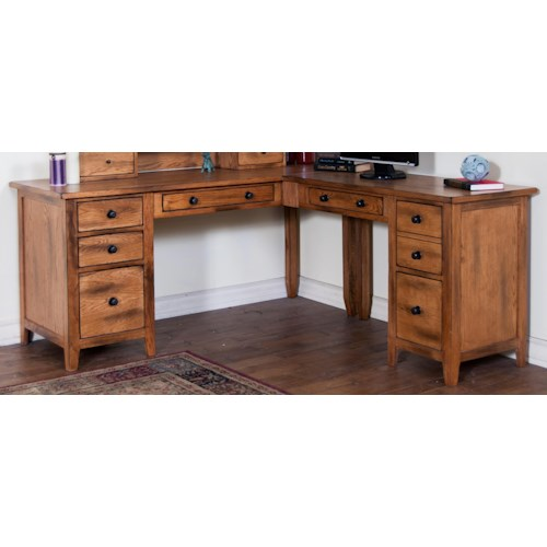 Sunny Designs Sedona L Shape Desk Furniture And Appliancemart L Shape Desks Stevens Point