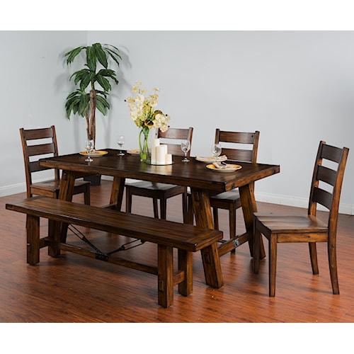 sunny designs tuscany distressed mahogany 6 piece