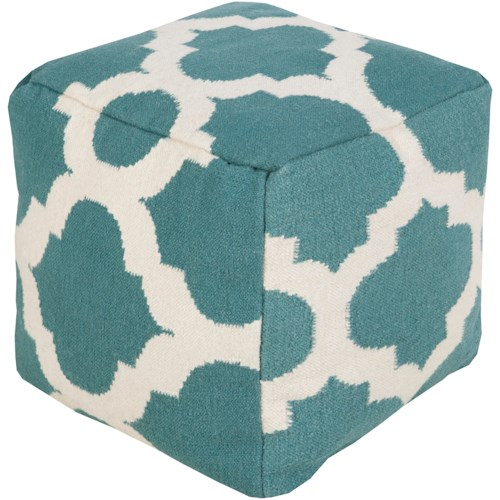 surya rugs poufs pouf153 181818 18 x 18 x 18 pouf del sol furniture textiles poufs. Black Bedroom Furniture Sets. Home Design Ideas