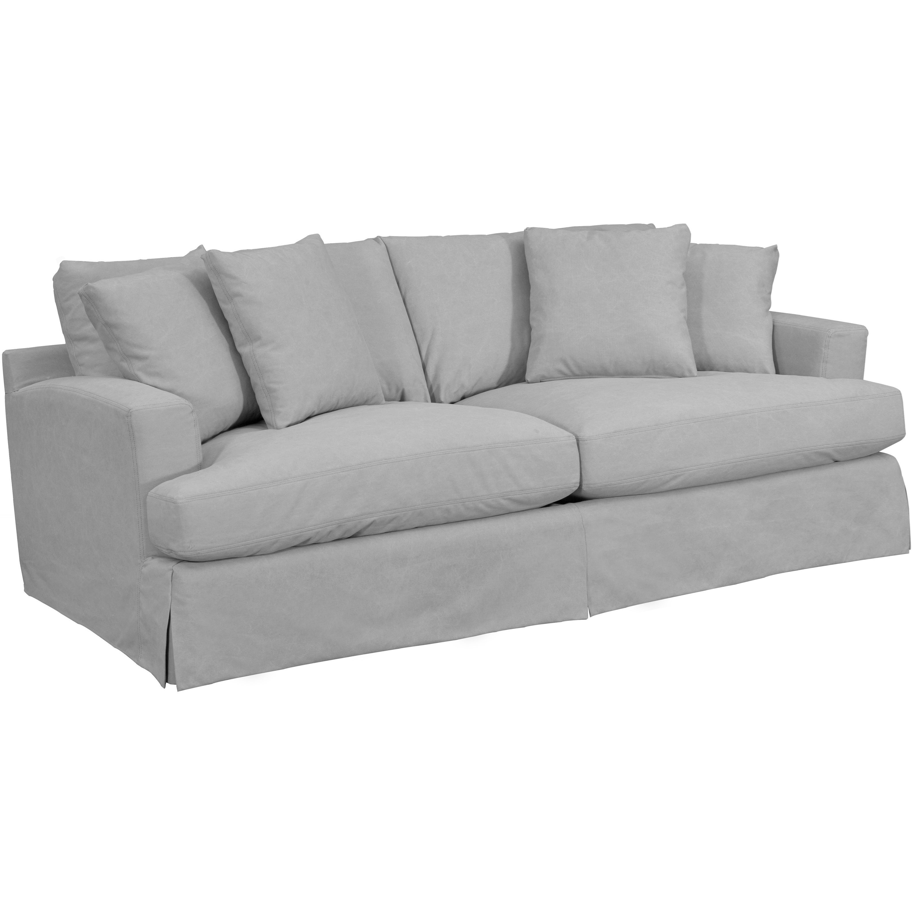 Rachel Slipcover Sofa with Track Arms Reeds Furniture