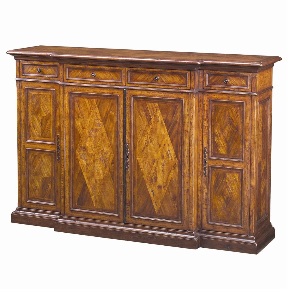 Theodore Alexander Cabinets and Sideboards Traditional Brunello Tall Sideboard Stuckey