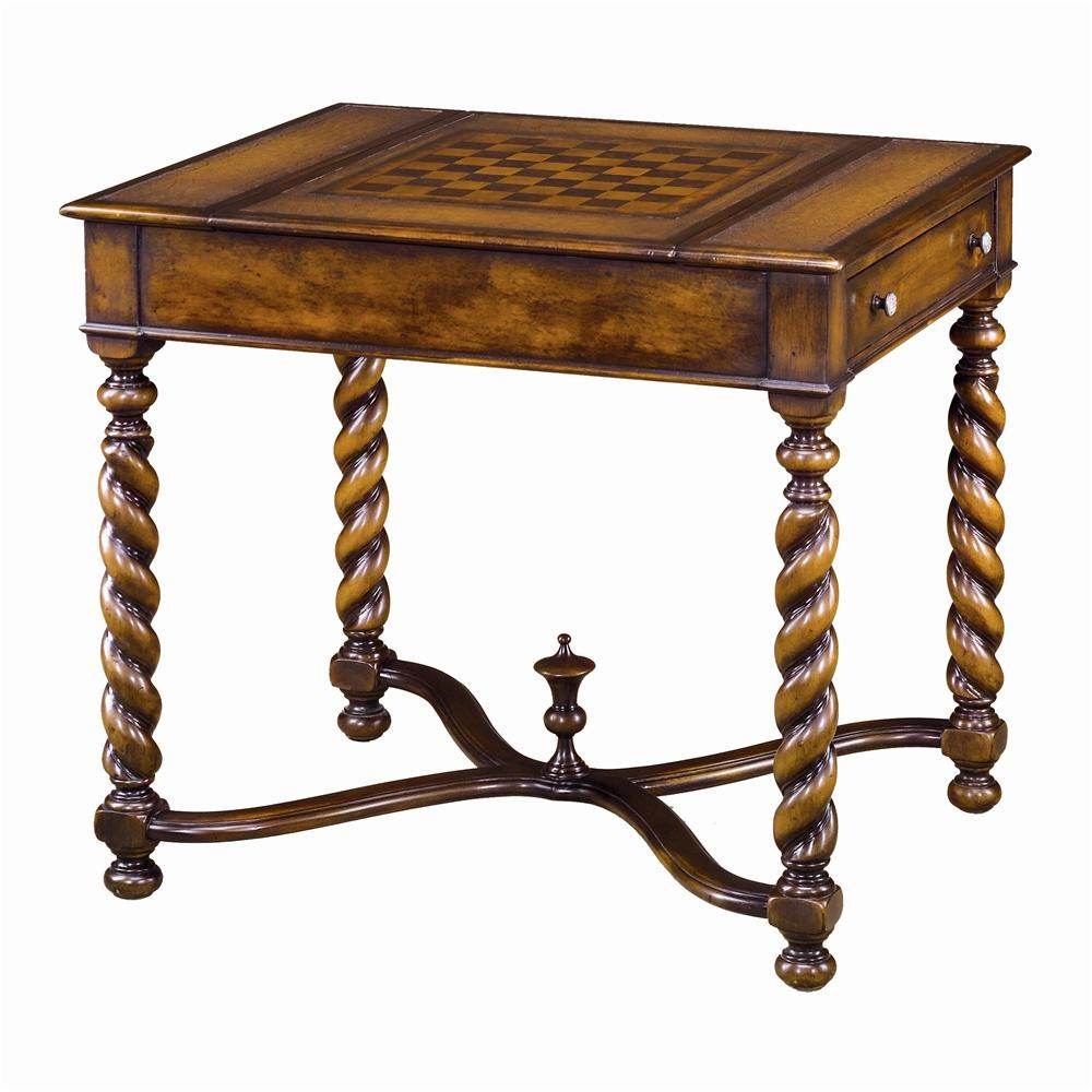 Theodore Alexander Tables 5200-002 William and Mary Game Table : Baeru0026#39;s Furniture : Game Table ...