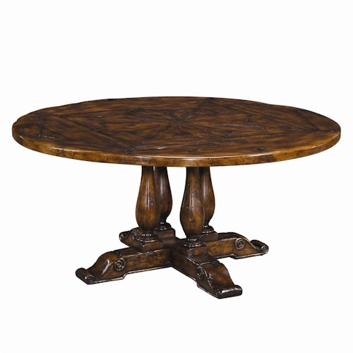 Theodore alexander tables cb54007 circular antiqued wood for Table 52 naples