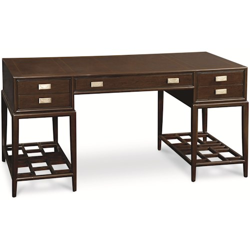 home home office furniture double pedestal desk thomasville lantau