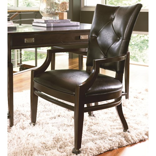 Thomasville Lantau Upholstered Desk Chair W Casters