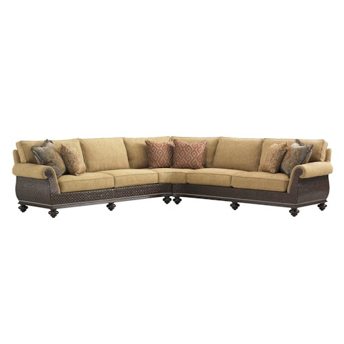Leather Sectional Sofa Orlando Fl: Tommy Bahama Home Island Traditions Westbury Sectional