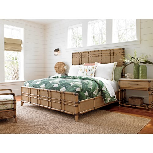 tommy bahama home twin palms king bedroom group belfort