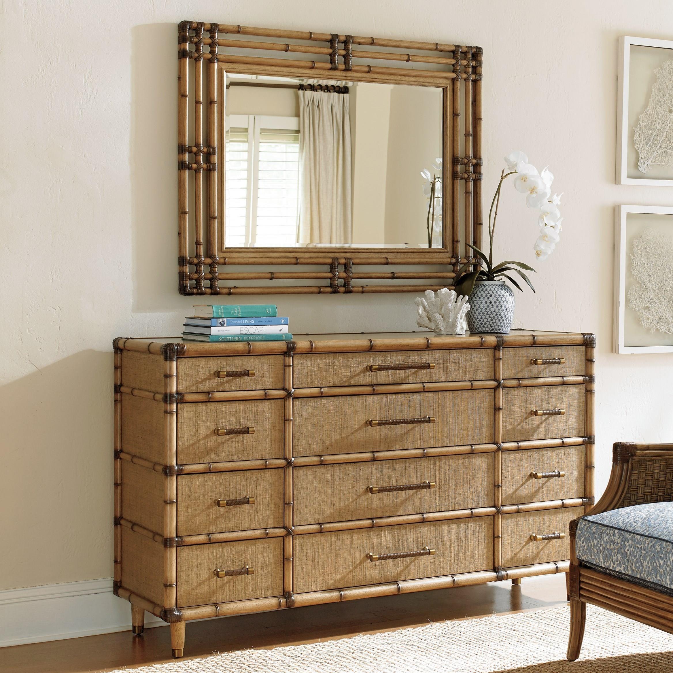 Genial Tommy Bahama Home Twin Palms Windward Dresser And Savana Mirror Set :  Baeru0026#39;