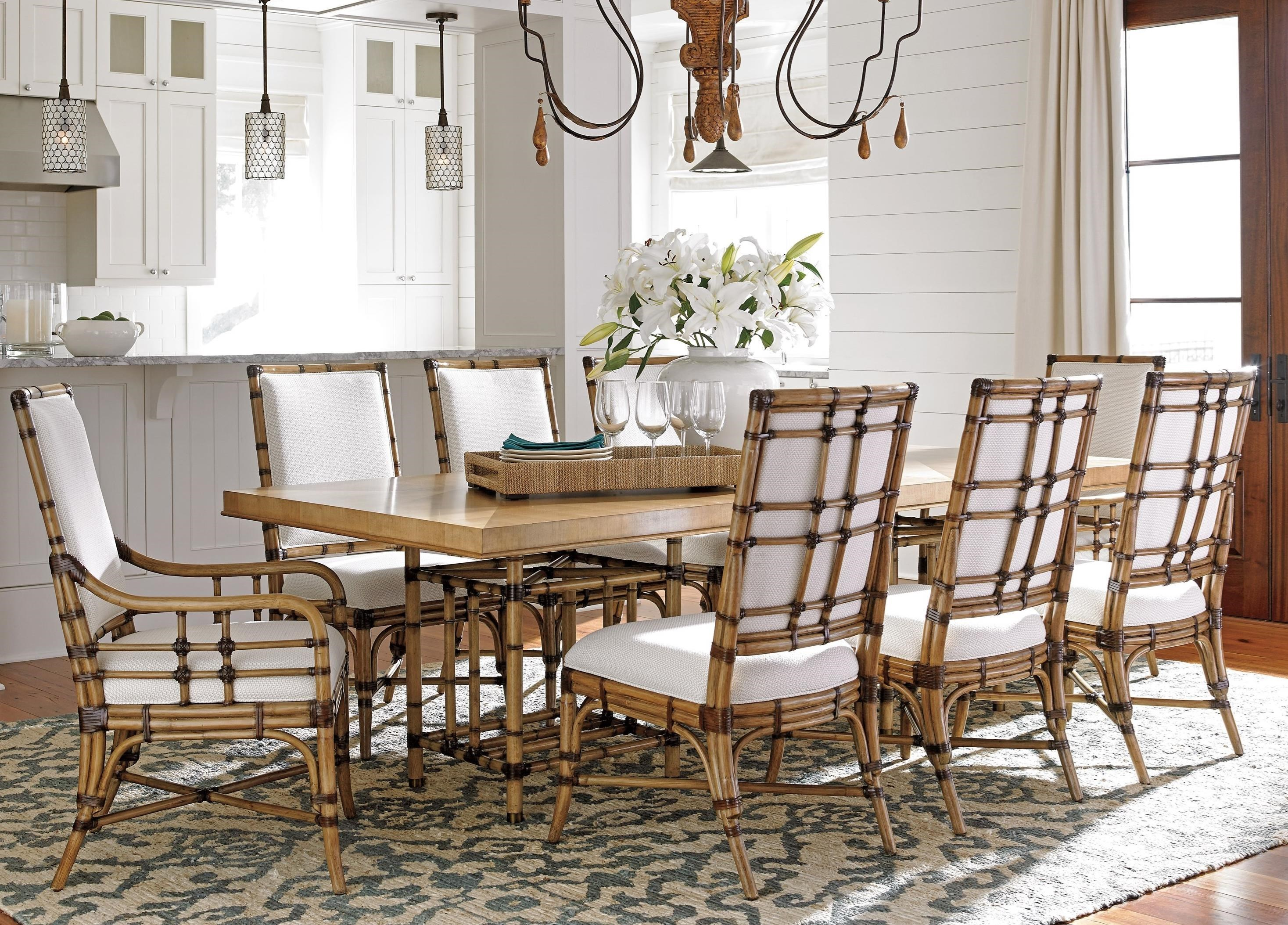 Tommy Bahama Home Twin Palms 9 Pc Dining Set : Baeru0026#39;s Furniture : Dining 7 (or more) Piece Sets ...