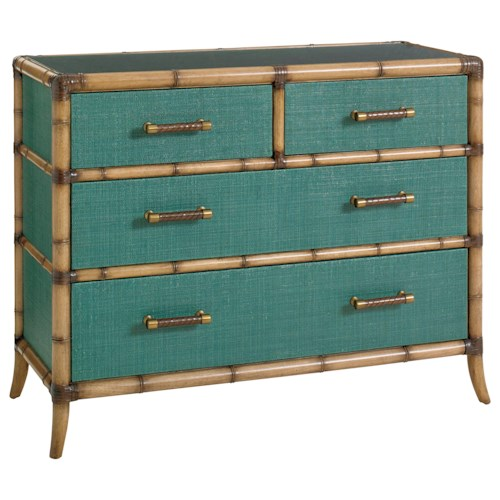 Tommy Bahama Home Twin Palms Teal 560 624 Accent Chest