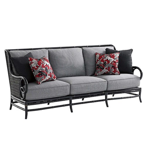 Tommy bahama outdoor living marimba sofa baer 39 s for Boca chaise pillow