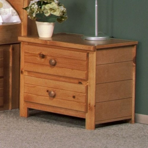 Trendwood Bayview 48 Two Drawer Nightstand Boulevard Home Furnishings Night Stands