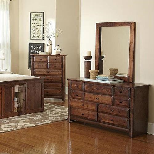 trendwood laguna nine drawer dresser and mirror set
