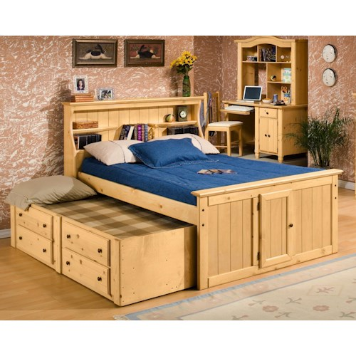 Trendwood Sedona Full Bookcase Bed With Trundle John V