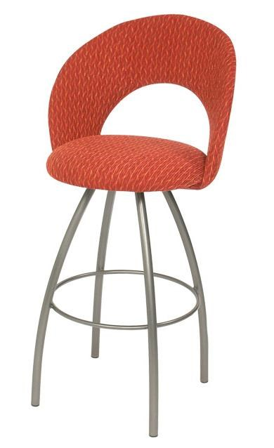 Trica Contemporary Bar Stools Biscotti Swivel Bar Stool