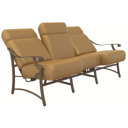 Tropitone montreaux ur comfort outdoor sofa with for Sofa exterior reclinable