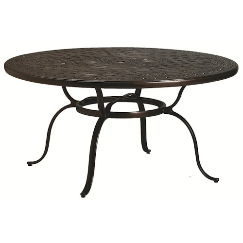 Tropitone Outdoor Tables Outdoor Round Dining Table With Umbrella Hole Wils