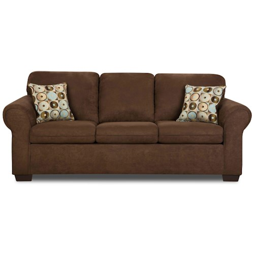 United Furniture Industries 1720 Sofa: United Furniture Industries 1640 Queen Sleeper Sofa With