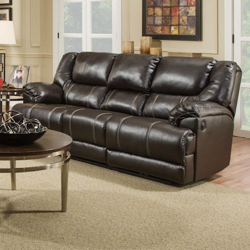 united furniture industries 50451 casual motion sofa with table bullard furniture reclining. Black Bedroom Furniture Sets. Home Design Ideas