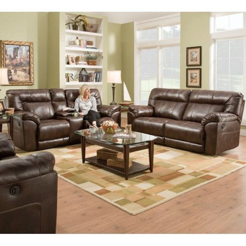 Simmons Upholstery 50571BR Reclining Living Room Group Dunk Bright Fu