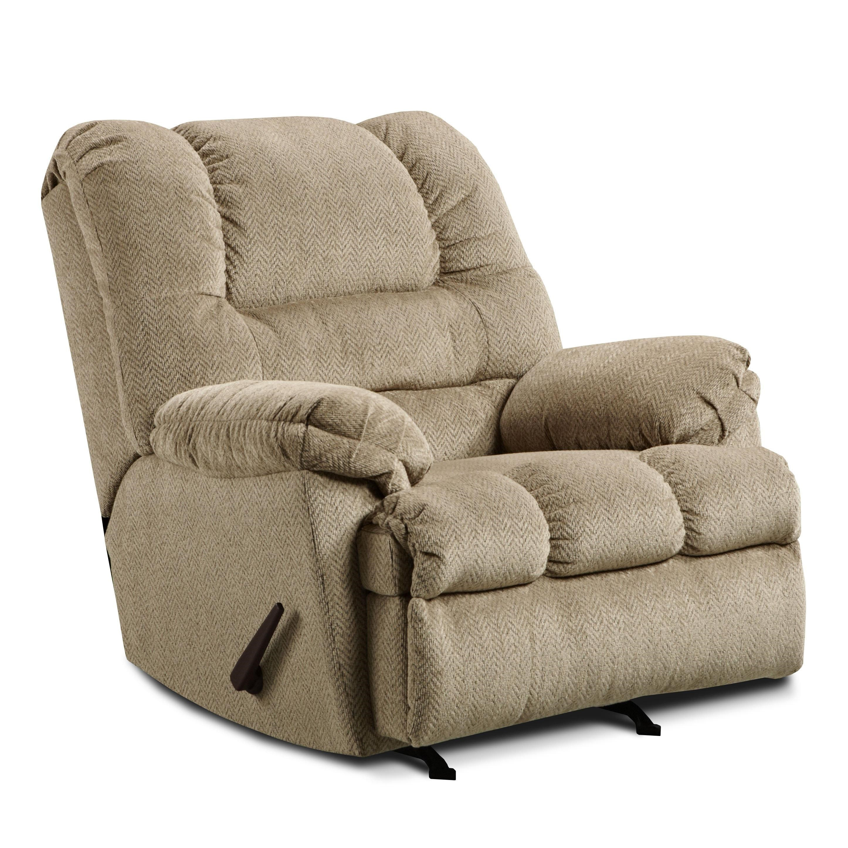 simmons upholstery 600 casual big man 3-positional power rocker recliner