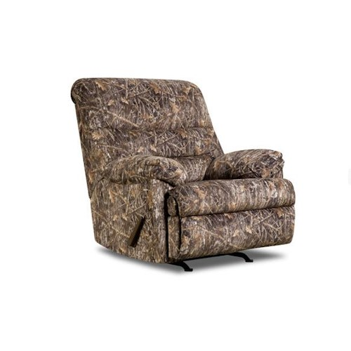 Simmons Upholstery 683 Conceal Brown Rocker Recliner