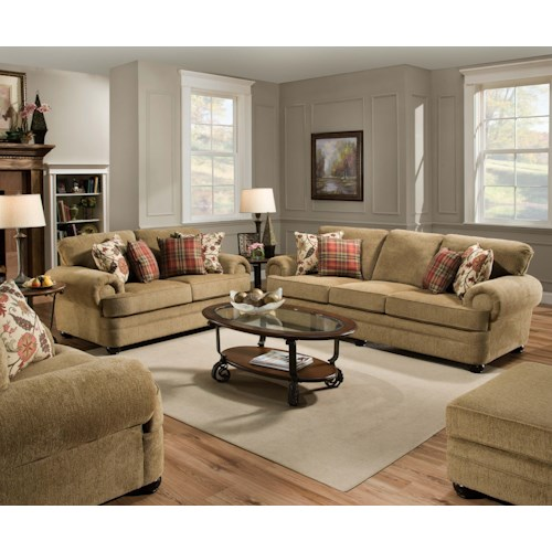 Stationary living room group charleston furniture upholstery group