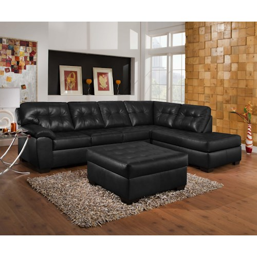 United Furniture Industries 9568 Casual Sectional Sofa