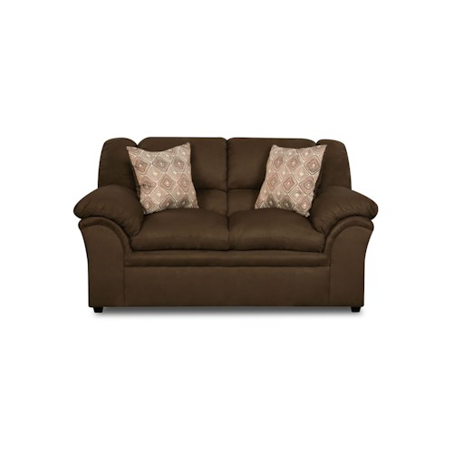 United Furniture Industries 1720 Vent Chocolate Loveseat
