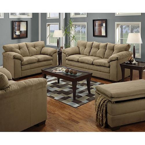 Simmons Upholstery 6565 Stationary Living Room Group Royal Furniture Stationary Living Room