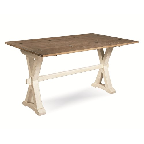 Universal Great Rooms Drop Leaf Console Table With X