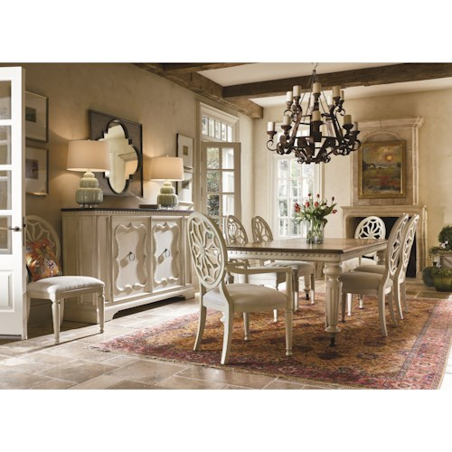 Universal Sojourn Dining Room Group Fashion Furniture Formal Dining Room Group Fresno Madera
