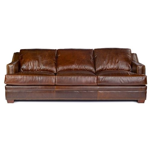 USA Premium Leather 9355 Sofa In 100% Leather Upholstery