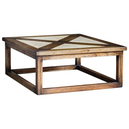 Uttermost accent furniture akono honey coffee table dunk for Bright colored side tables