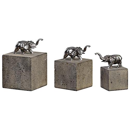 Accessories Tiberia Elephant Sculpture S 3 Rotmans Sculptures Figurines Worcester Boston