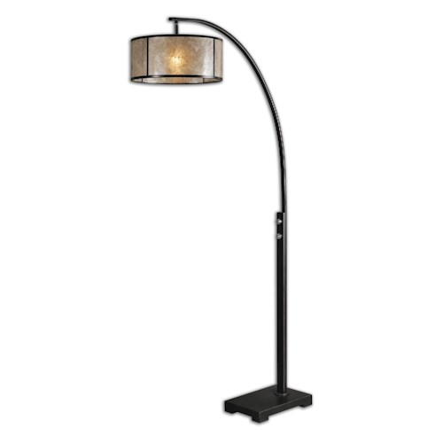 Uttermost lamps 28597 1 cairano drum shade floor lamp for Ikea avondale az