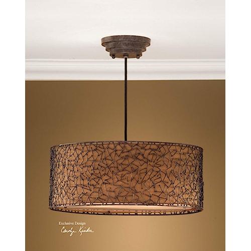 Uttermost Lighting Fixtures Brandon 3 Light Hanging Shade Hudson 39 S Furniture Pendant Light