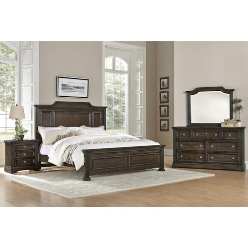 vaughan bassett affinity king bedroom group belfort