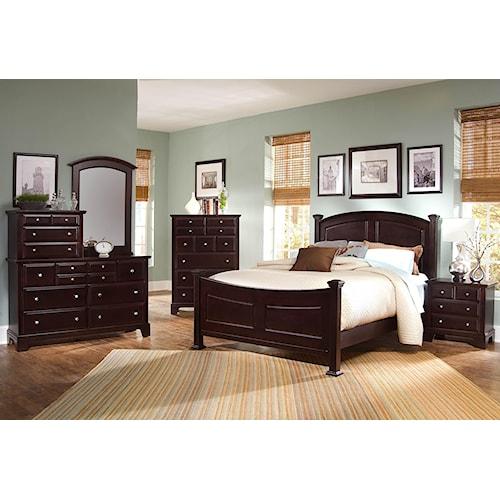 Vaughan Bassett Bedroom Set: Vaughan Bassett Hamilton/Franklin Queen Bedroom Group