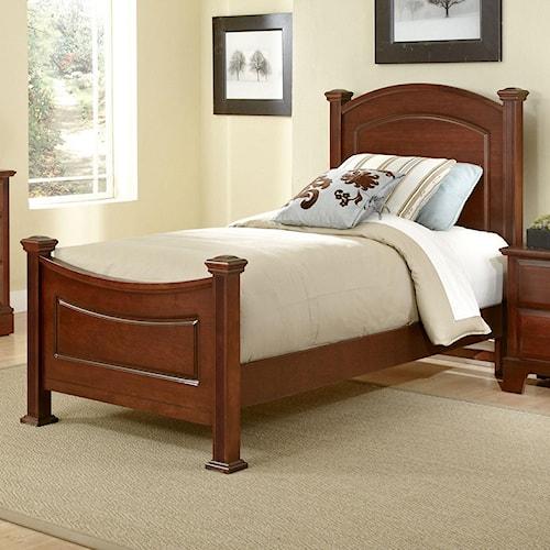 Vaughan Bassett Hamilton Franklin Twin Panel Bed Efo Furniture Outlet Headboard Footboard