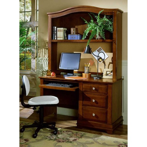 Vaughan bassett cottage desk hutch hudson 39 s furniture desk hutch tampa st petersburg - Home office furniture tampa ...