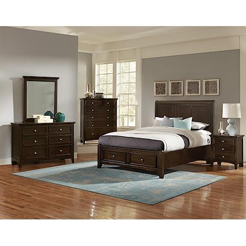 home bedroom groups vaughan bassett bonanza full bedroom group
