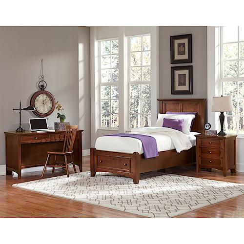 vaughan bassett bonanza twin bedroom group belfort