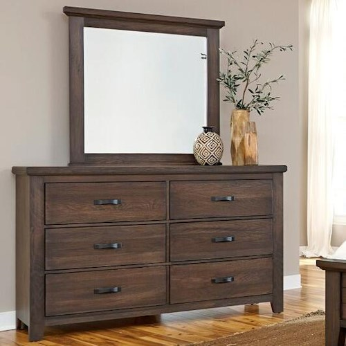 Vaughan bassett cassell park dresser with six self closing for Bedroom furniture indianapolis