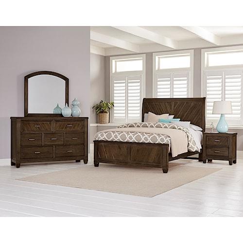 home bedroom groups vaughan bassett rustic cottage queen bedroom group